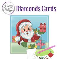Dotty Designs - Santa (O)(P), Timanttityökortti, 15x15cm