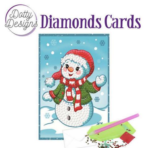 Dotty Designs - Happy Snowman (O)(P), Timanttityökortti, 10x15cm