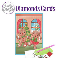 Dotty Designs - Gingerbread Dolls (O)(P), Timanttityökortti, 10x15cm