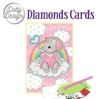 Dotty Designs - Pink Baby Elephant (O)(P), Timanttityökortti, 10x15cm