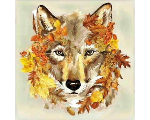 Collection D'Art - Autumn Wolf (K)(N), Timanttimaalaus, 38x38cm