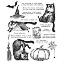 Tim Holtz - Snarky Cat Halloween, Leimasetti