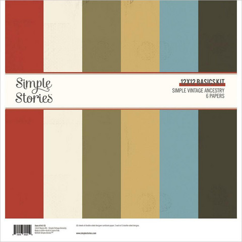 Simple Stories - Simple Vintage Ancestry Basics Double-Sided Paper Pack, 12