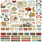 Simple Stories - Simple Vintage Ancestry Cardstock Stickers 12