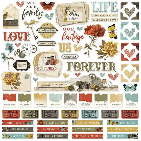 Simple Stories - Simple Vintage Ancestry Cardstock Stickers 12