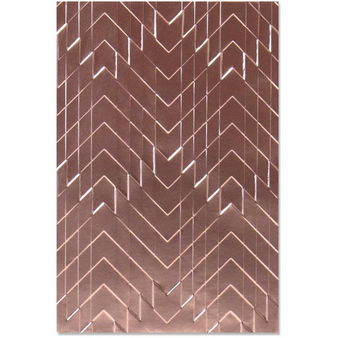 Sizzix - 3D Texture Impressions Embossing Folder By Georgie Evans, Kohokuviointitasku, Staggered Chevrons