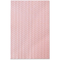 Sizzix - 3D Texture Impressions Embossing Folder By Jessica Scott, Kohokuviointitasku, Knitted