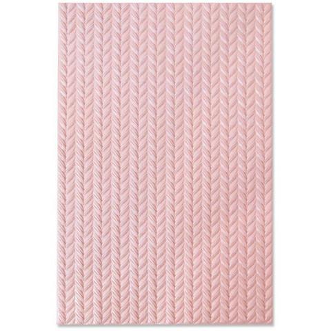 Sizzix - 3D Texture Impressions Embossing Folder By Jessica Scott, Kohokuviointitasku, Knitted