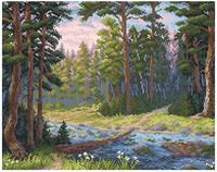 BrilliArt - Forested River (K)(N), Timanttimaalaus, 48x38cm