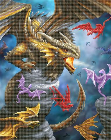 Craft Buddy - Dragon Clan (O)(P), Timanttimaalaus, 40x50cm