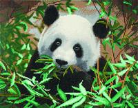 Craft Buddy - Friendly Panda (K)(P), Timanttimaalaus, 50x40cm