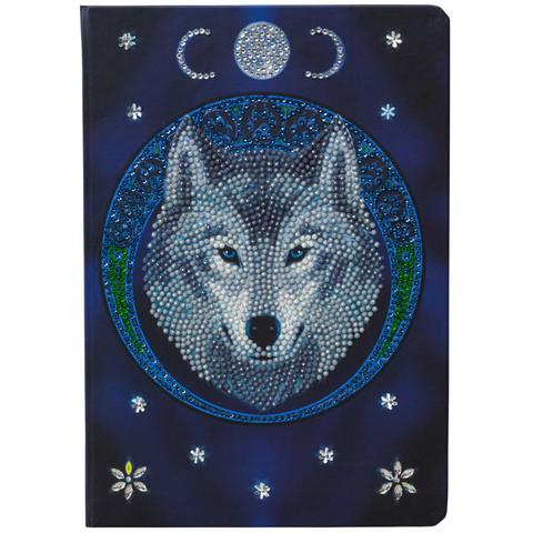 Craft Buddy - Lunar Wolf (O)(P), Vihko Timanttikuviolla, 26x18cm