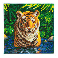 Craft Buddy - Tiger Pool (K)(P), Timanttimaalaus, 30x30cm