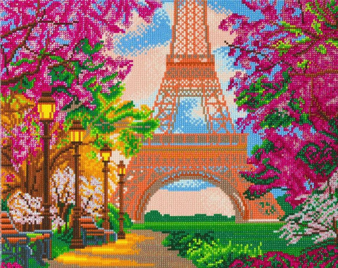 Craft Buddy - Paris in Spring (K)(P), Timanttimaalaus, 50x40cm