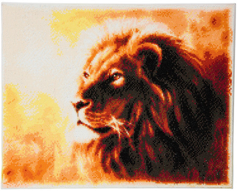 Craft Buddy - Proud Lion (K)(P), Timanttimaalaus, 50x40cm