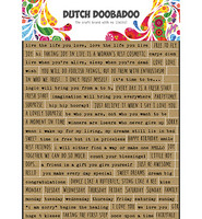 Dutch Doobadoo - Sticker Art Text English, Tarra-arkki