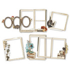 Simple Stories - Simple Vintage Ancestry, Chipboard Frames, 6 kpl
