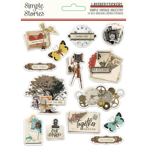 Simple Stories - Simple Vintage Ancestry, Layered Stickers