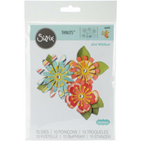 Sizzix -Thinlits Dies By Lori Whitlock, Stanssisetti, Mix & Match Flowers