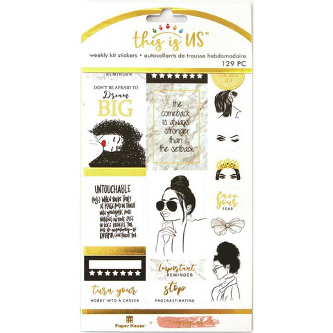 Paper House - This Is Us Weekly Planner Sticker Kit, Glamorous Girls, Tarrasetti
