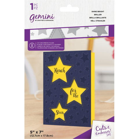 Gemini - Cut and Emboss Folder, Shine Bright
