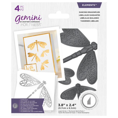 Gemini - Foil Stamp 'N' Cut Elements, Dancing Dragonflies