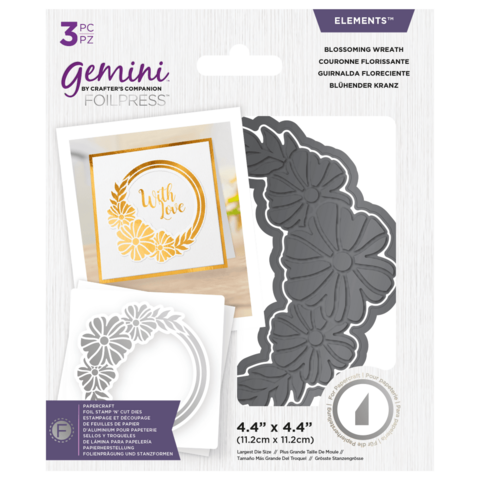 Gemini - Foil Stamp 'N' Cut Elements, Blossoming Wreath