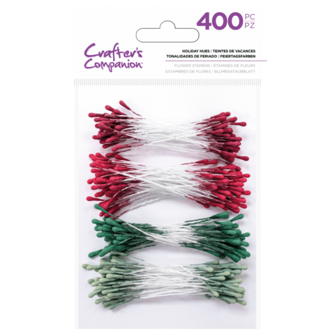Crafter's Companion - Flower Stamens, Holiday Hues, 400 kpl