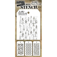 Tim Holtz - Mini Layered Stencil, Set #50