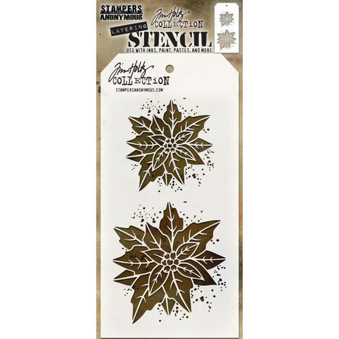 Tim Holtz - Layered Stencil, Poinsettia Due