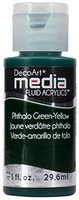 DecoArt - Fluid Acrylics, Phthalo Green-Yellow, 29ml