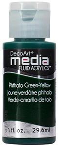 DecoArt - Fluid Acrylics, Phthalo Green-Yellow, 29ml