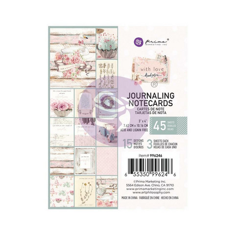 Prima Marketing - With Love By Frank Garcia, Journaling Notecards, 3