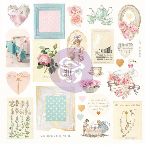 Prima Marketing - With Love By Frank Garcia, Cardstock Ephemera, 27 osaa, Foiled Accents
