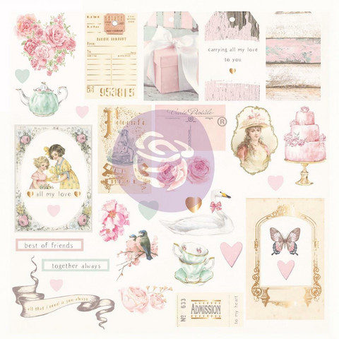 Prima Marketing - With Love By Frank Garcia, Cardstock Ephemera, 31 osaa, Shapes, Tags, Words
