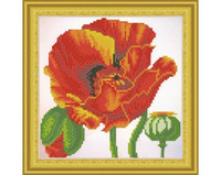 It`s Hobby - Red Poppy (O)(P), Timanttimaalaus, 30x30cm