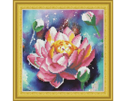 It`s Hobby - Lotus (O)(P), Timanttimaalaus, 30x30cm