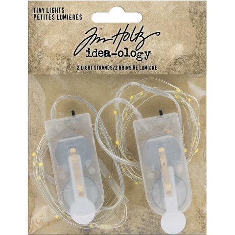 Tim Holtz - Idea-Ology, Battery Operated Wire Light Strands, Christmas Tiny Lights, Clear