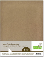 Lawn Fawn - Woodgrain Cardstock, Light Brown, 5 arkkia