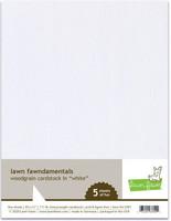 Lawn Fawn - Woodgrain Cardstock, White, 5 arkkia
