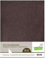Lawn Fawn - Woodgrain Cardstock, Dark Brown, 5 arkkia