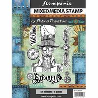 Stamperia - Mixed Media Stamp, Sir Vagabond Steampunk, Leimasetti