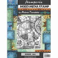 Stamperia - Mixed Media Stamp, Sir Vagabond Mechanism, Leimasetti