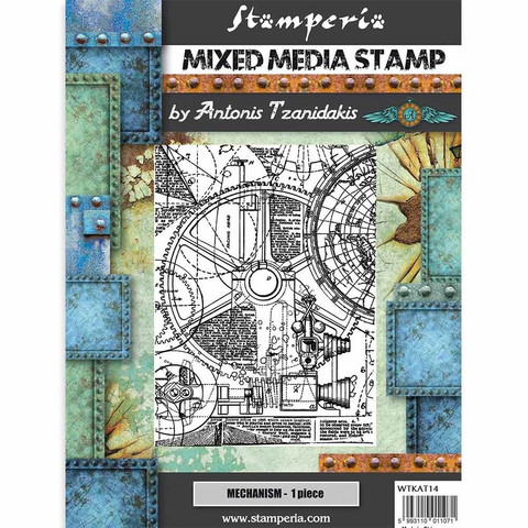 Stamperia - Mixed Media Stamp, Sir Vagabond Mechanism, Leimasetti