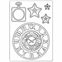 Stamperia - Sir Vagabond, Mixed Media Mould, Clocks and Stars, Muotti, A5