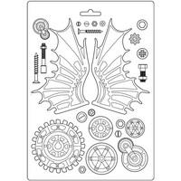 Stamperia - Lady Vagabond, Soft Mould, Muotti, A4, Fly Machine