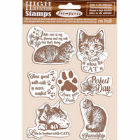 Stamperia - Natural Rubber Stamp, Leimasetti, Cats