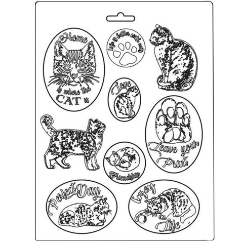 Stamperia - Soft Mould, Muotti, A4, Cats