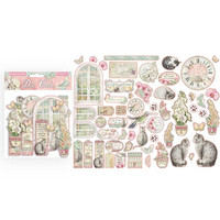 Stamperia - Orchids and Cats, Die Cuts, 55 kpl