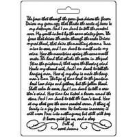 Stamperia - Soft Mould, Manuscript, Muotti, A5